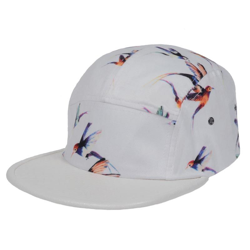 White 5 Panel Camp Caps Snapback snap back Cap Birds Hip Hop Hats  Adjustable Baseball Cap For Adult c7397f7179b