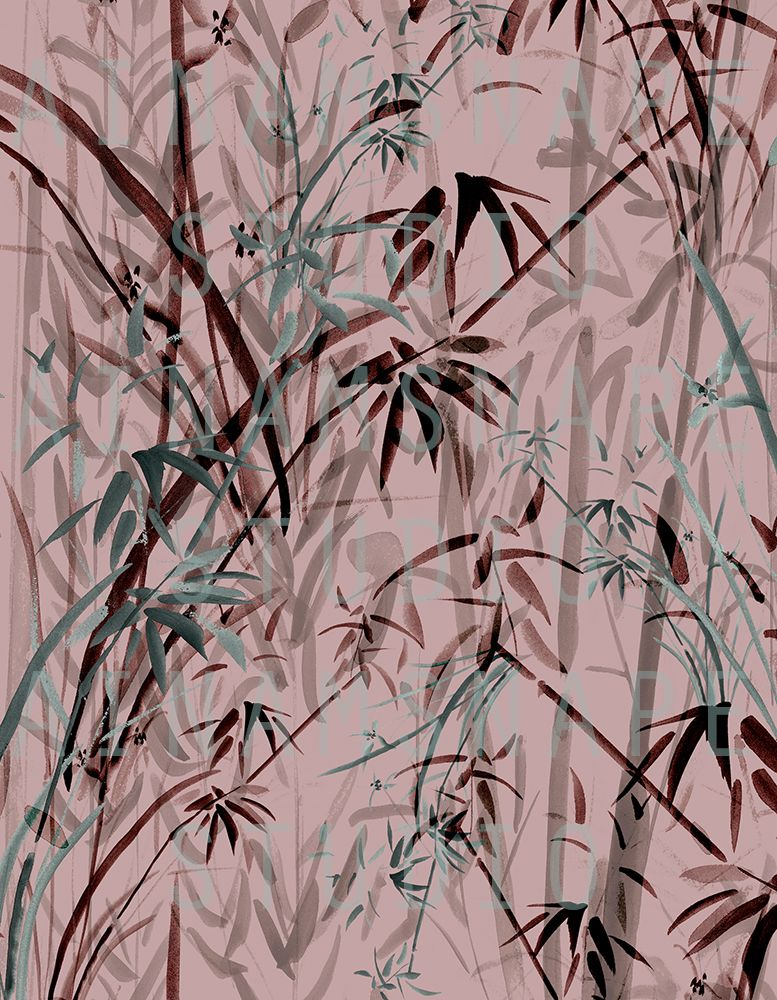 Bamboo Print Pattern Design By Ainamsnape C Exclusive Patterns