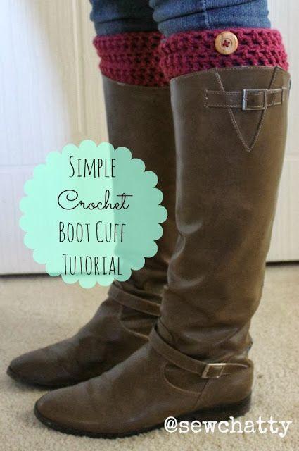 Sew Chatty: {Crochet Boot Cuff TUTORIAL} | Crochet | Pinterest ...
