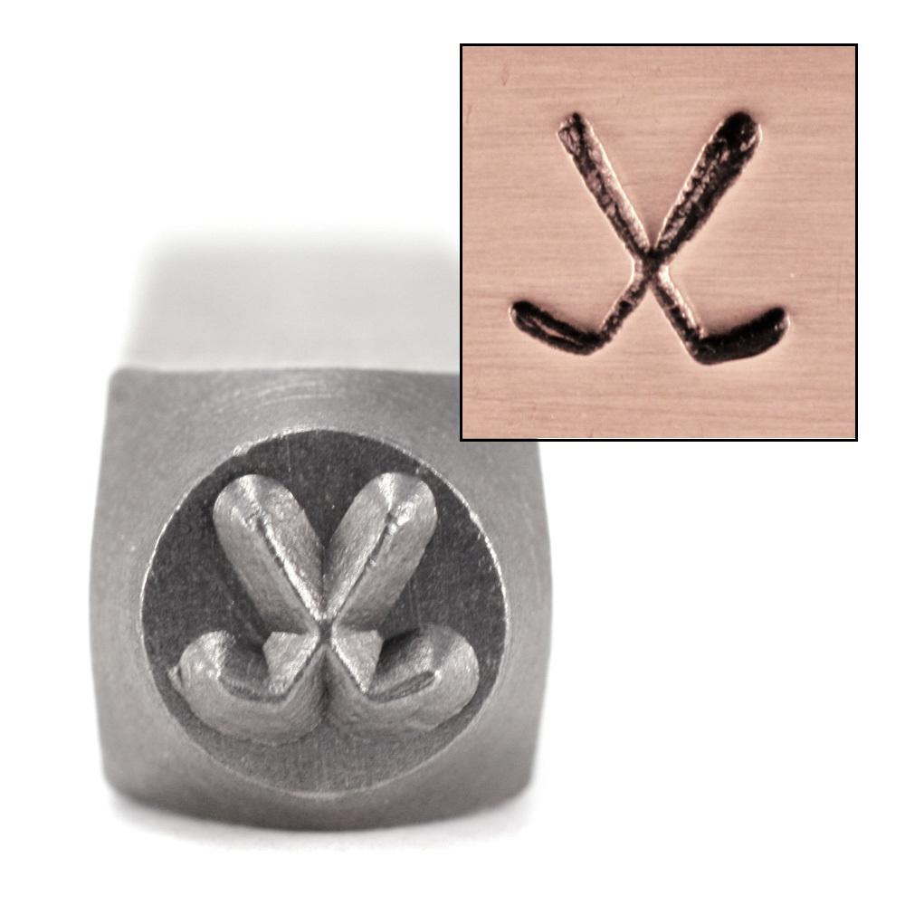 Crossed Arrows Metal Design Stamp 6mm ImpressArt