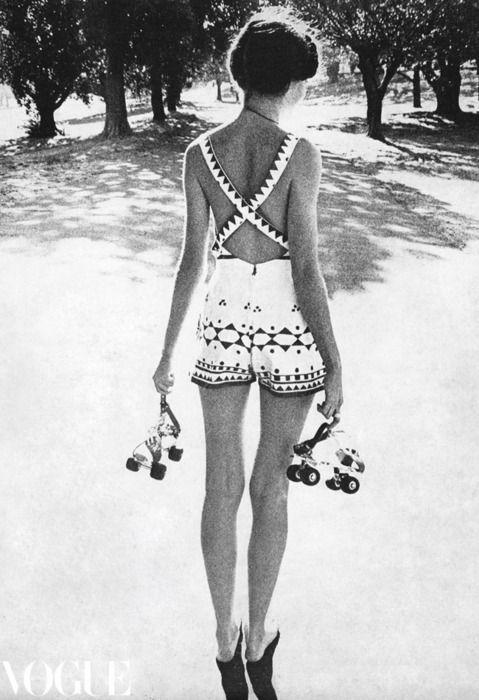 Vogue Australia October 1970 / romper + rollerskates