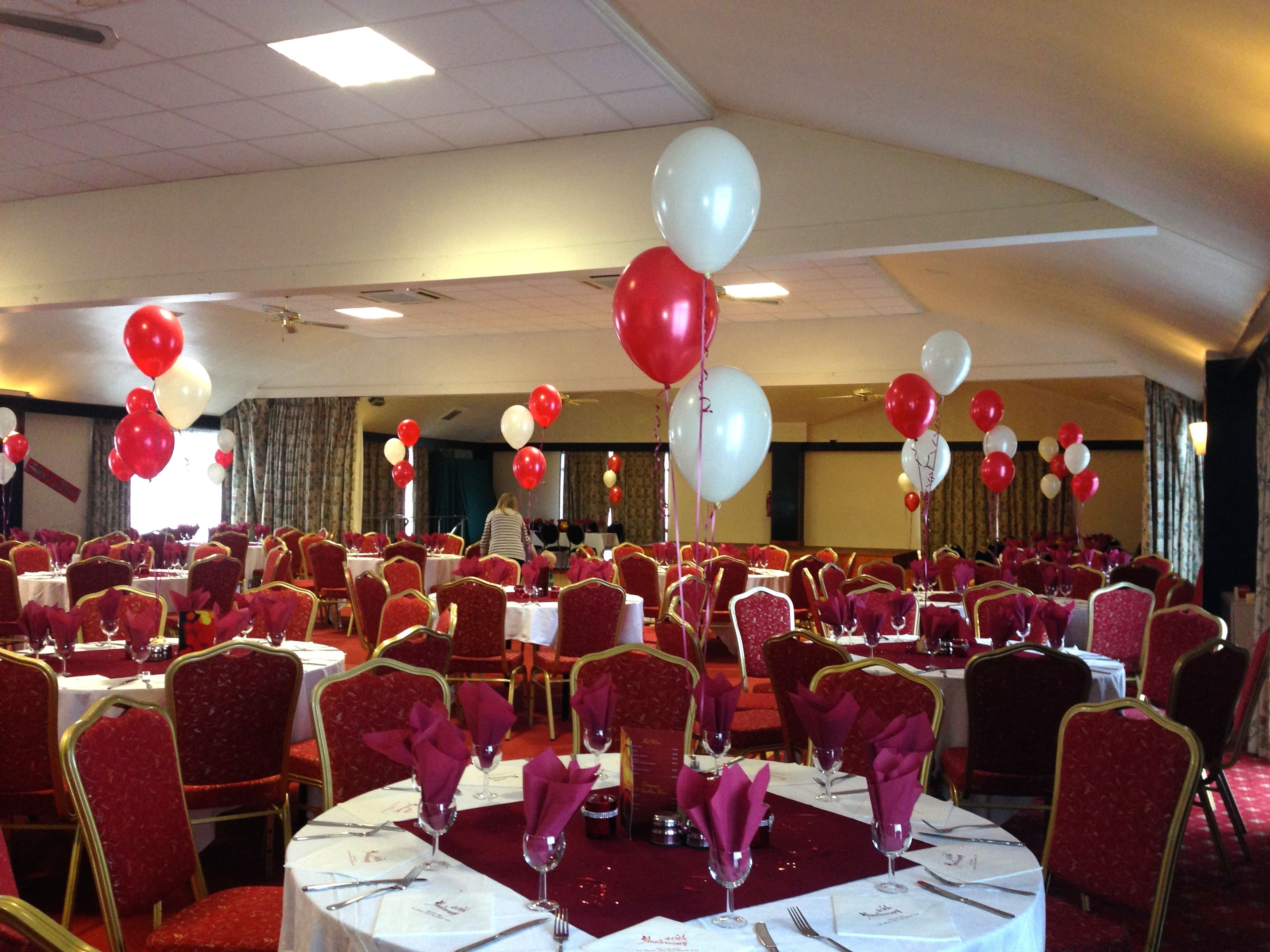 Ruby Wedding Anniversary Balloons And Door Arch At The Wessex