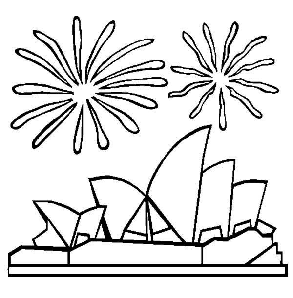 Opera House Colouring Page
