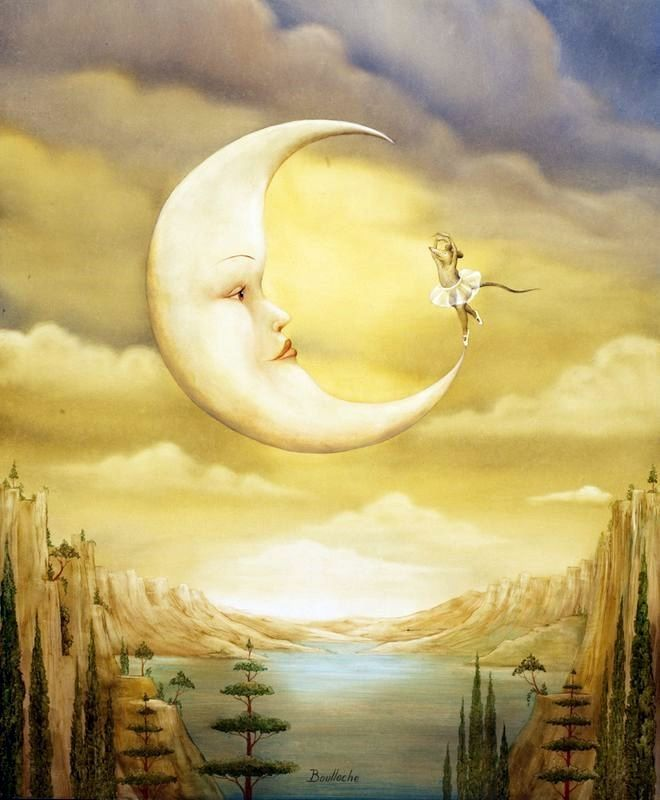 Paintings that Spill over into the World of Surrealism | Good night moon,  Good night sweet dreams, Sweet dreams my love