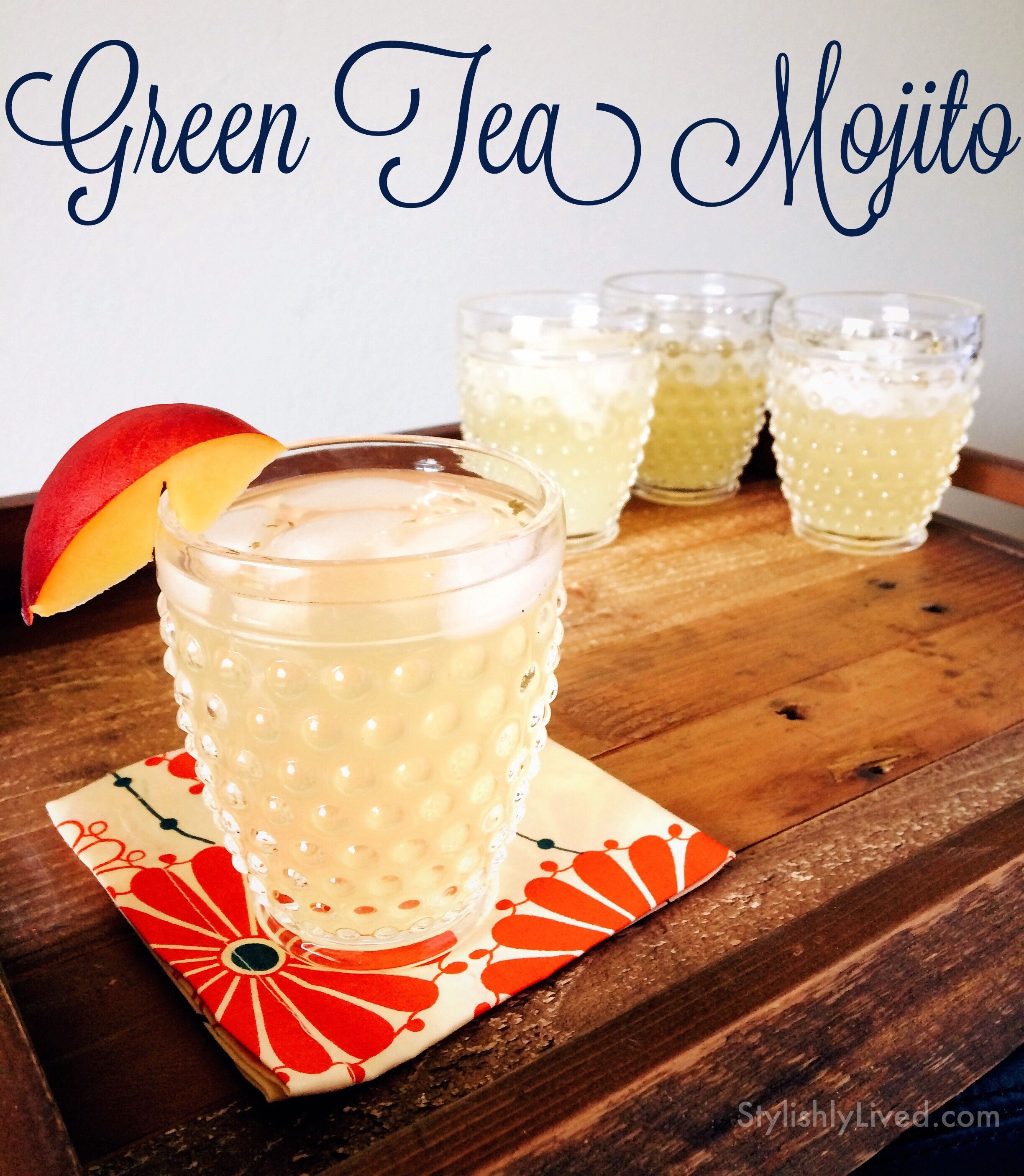 The perfect Summer cocktail for a group - Green Tea Mojitos