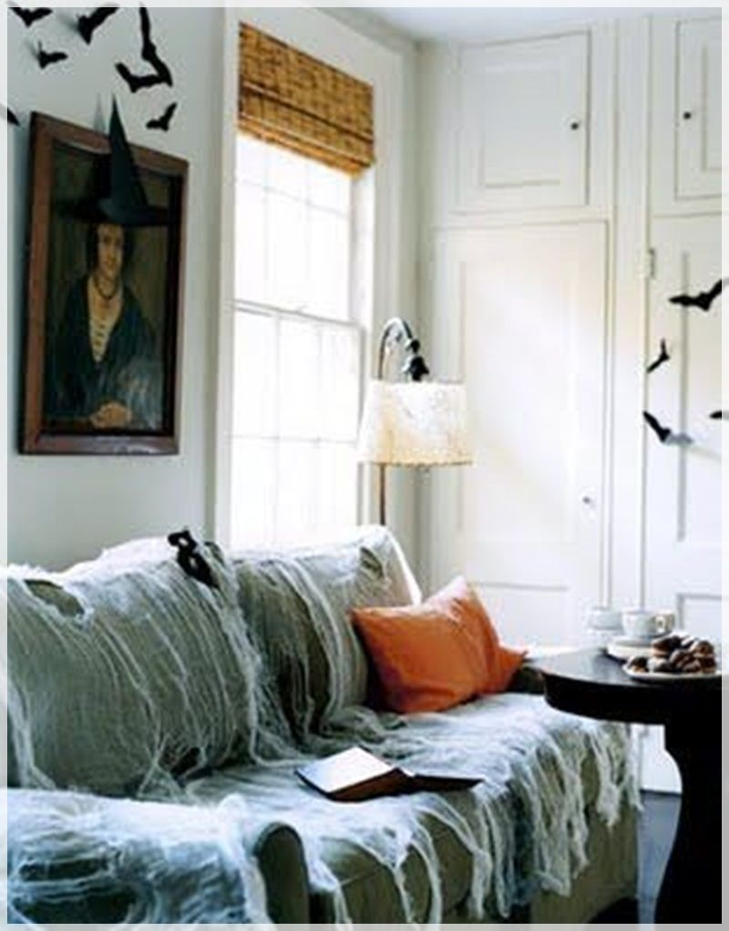 halloween decorating ideas for living room bat decorations ideas home concept - How To Decorate House For Halloween
