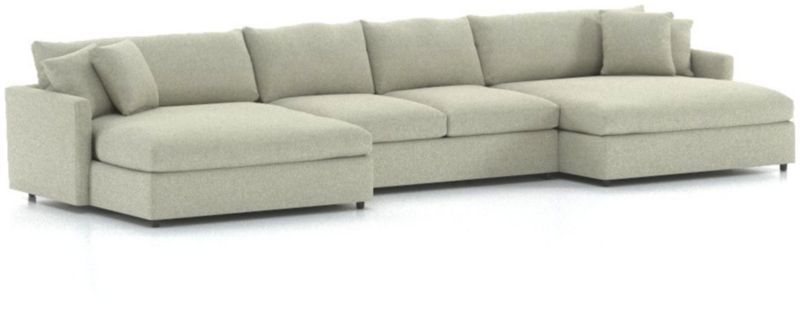 Excellent Lounge Ii 3 Piece Double Chaise Sectional Sofa Furniture Beatyapartments Chair Design Images Beatyapartmentscom