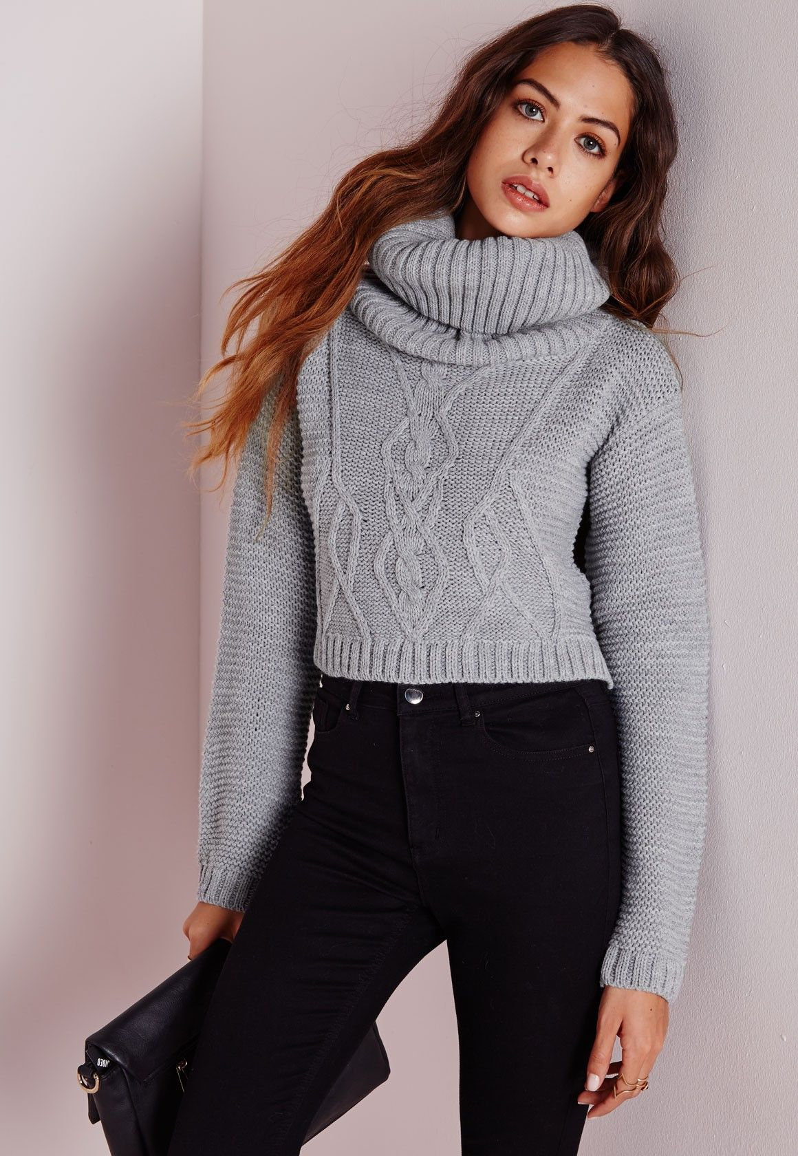 You need this lustworthy roll neck cropped sweater in your life ...