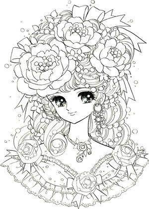 女の子向け】お姫様 プリンセスの塗り絵(ぬりえ) 無料画像テンプレート