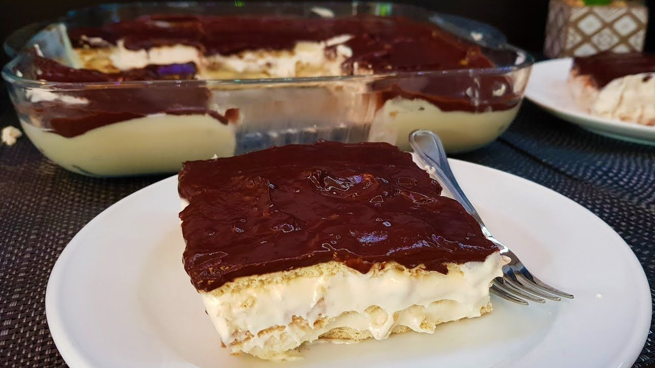 حلى بارد بالكراميل والبسكوت من اطيب الحلويات البارده بدون فرن وبدون بيض Youtube Food Yummy Food Desserts