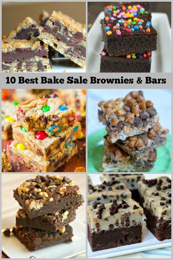 10 best bake sale recipes  brownies and bars