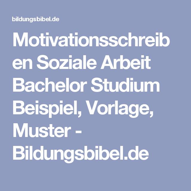 Motivationsschreiben Muster Beispiel Vorlage