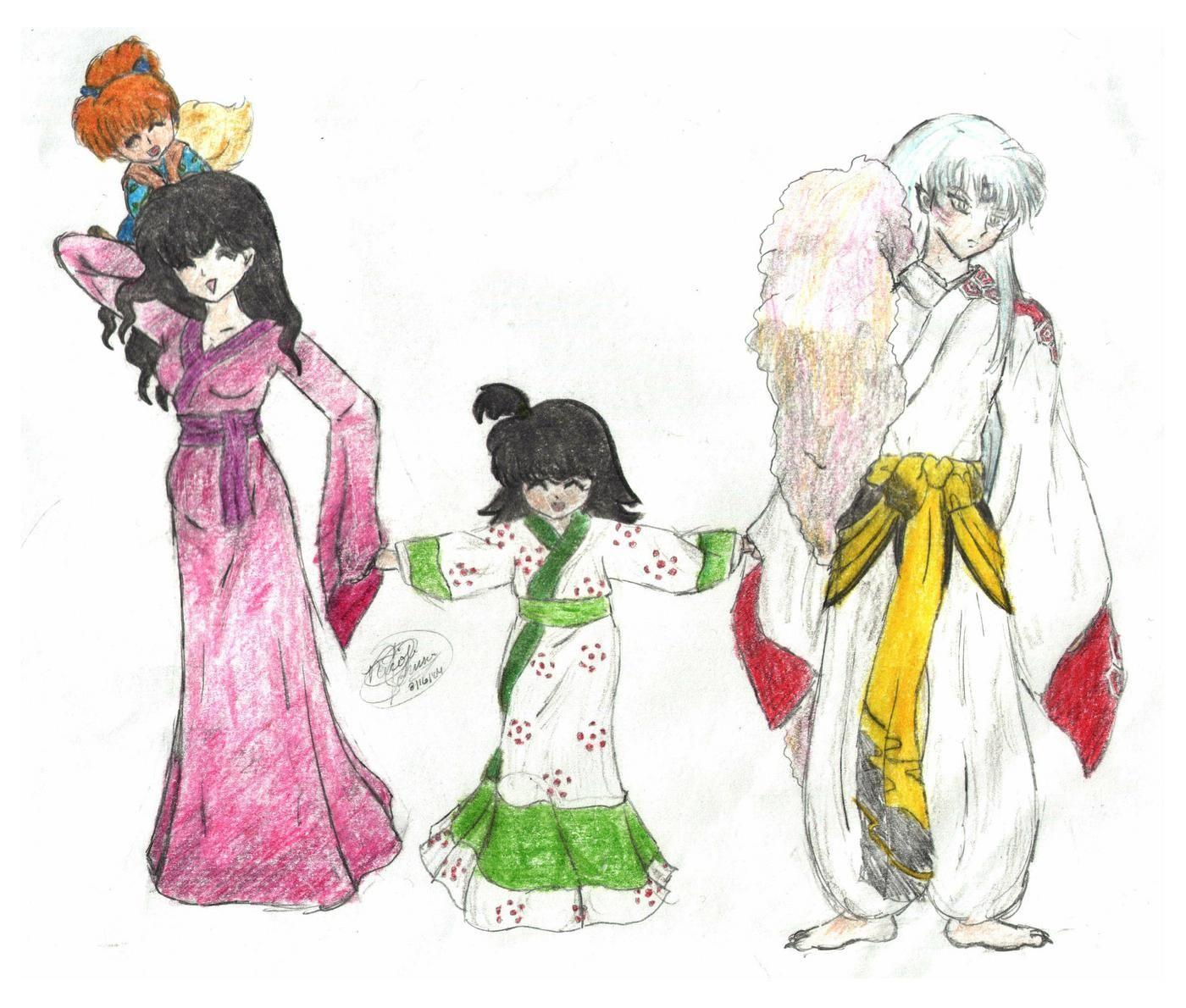 sesshomaru+and+kagome+mate | Sesshoumaru family by Chibuka