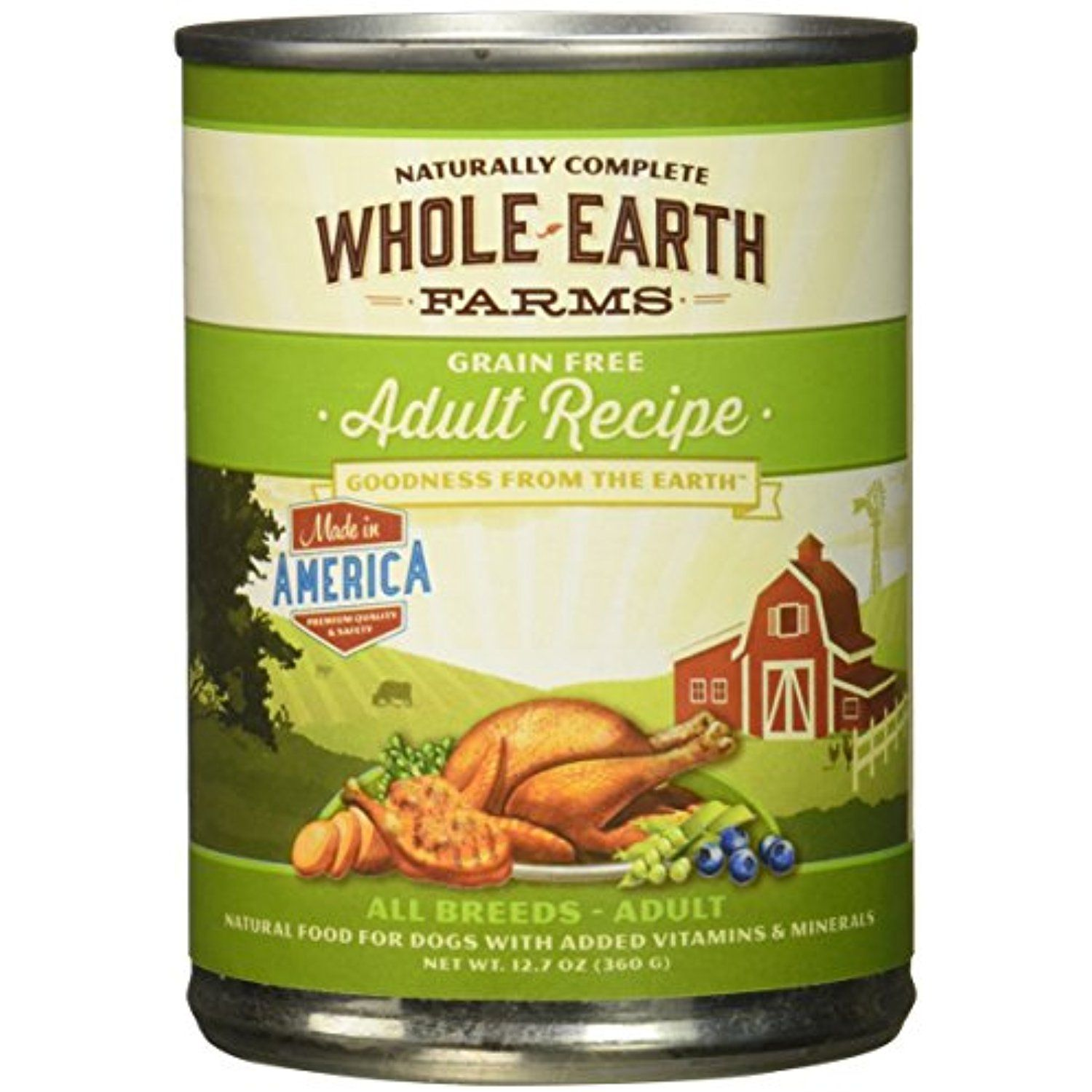 Whole Earth Farms Grain Free Canned Adult Dog Food, Case