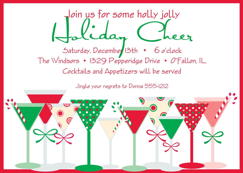 Holiday Party Invitation - Holiday Cheer. $15.00, via Etsy.   Party ...