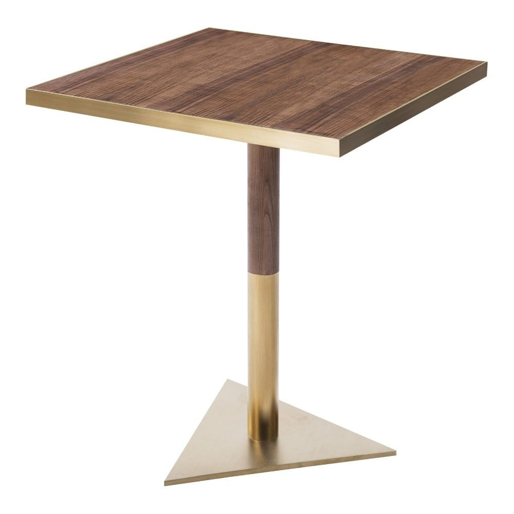 Raleigh Square Café Table With Triangle Base | Modern Bistro Table