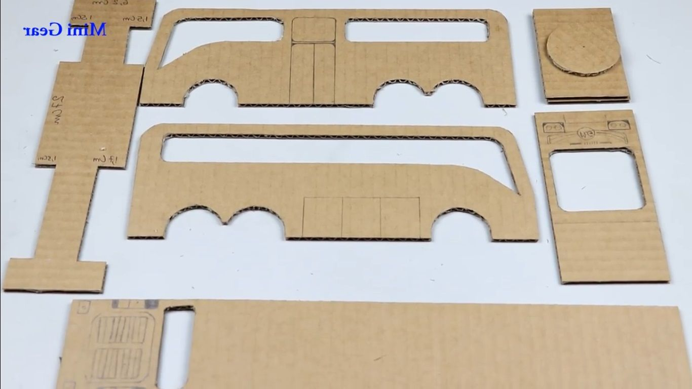 Cara Membuat Kerajinan Tangan Miniatur Bus Dari Kardus Bekas Kardus Miniatur Pembuatan Pola
