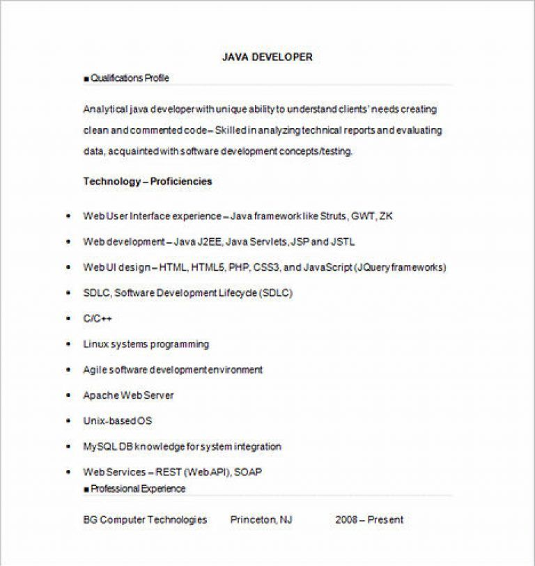 Software Developer Resume Sample and Tips Job resume