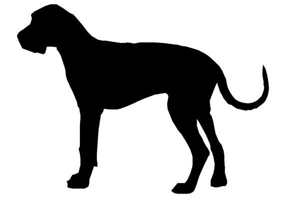 Great Dane Dog Breed Silhouette Custom Die By Bluelobsterdecals 1 70 Great Dane Dane Dog Dog Silhouette
