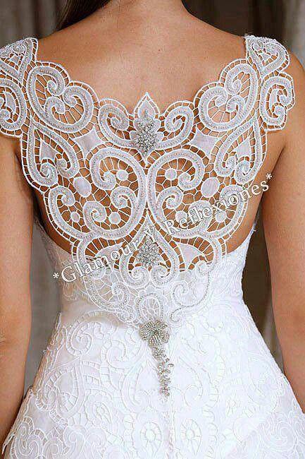 Que hermoso detalle.. Vestido de novia...