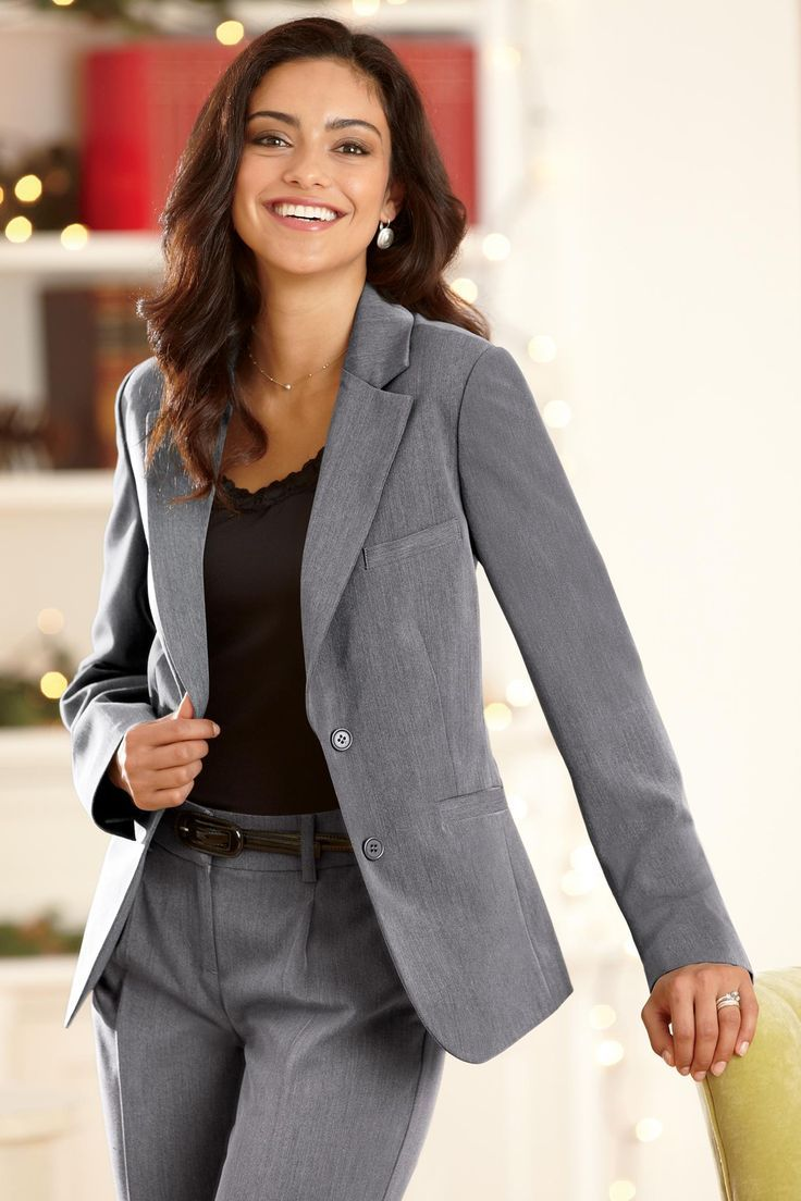 Image Result For Grey Suit Combinations Women Professional Look
