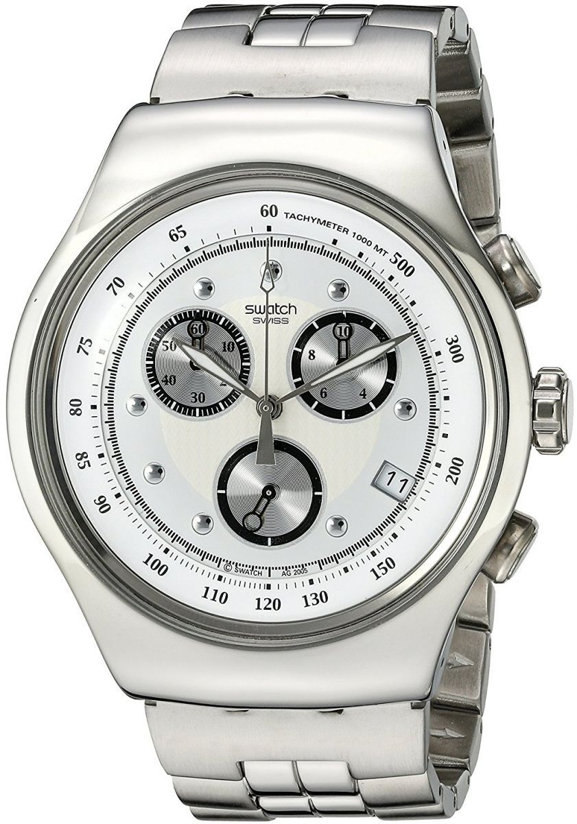 Swatch Wealthy Star Men S Silver Dial Stainless Steel Band Watch Yos401g Luxury Watches For Men Wristwatch Men Watches For Men