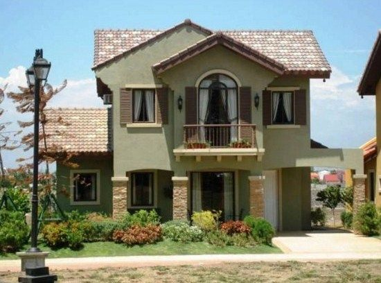 Colores para pintar una casa exterior frentes ccuaderno - Colores para pintar casas ...