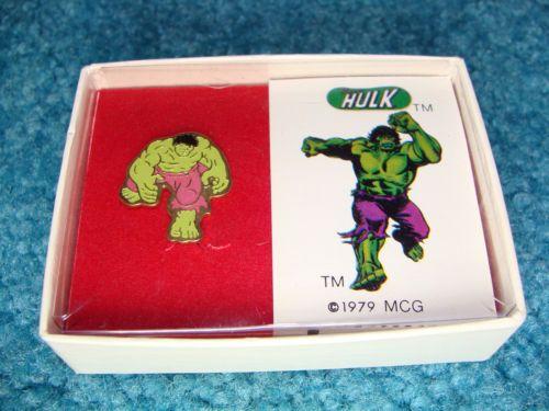 Vintage-Incredible-Hulk-PIN-with-original-Box-Marvel-Comic-Group-1979