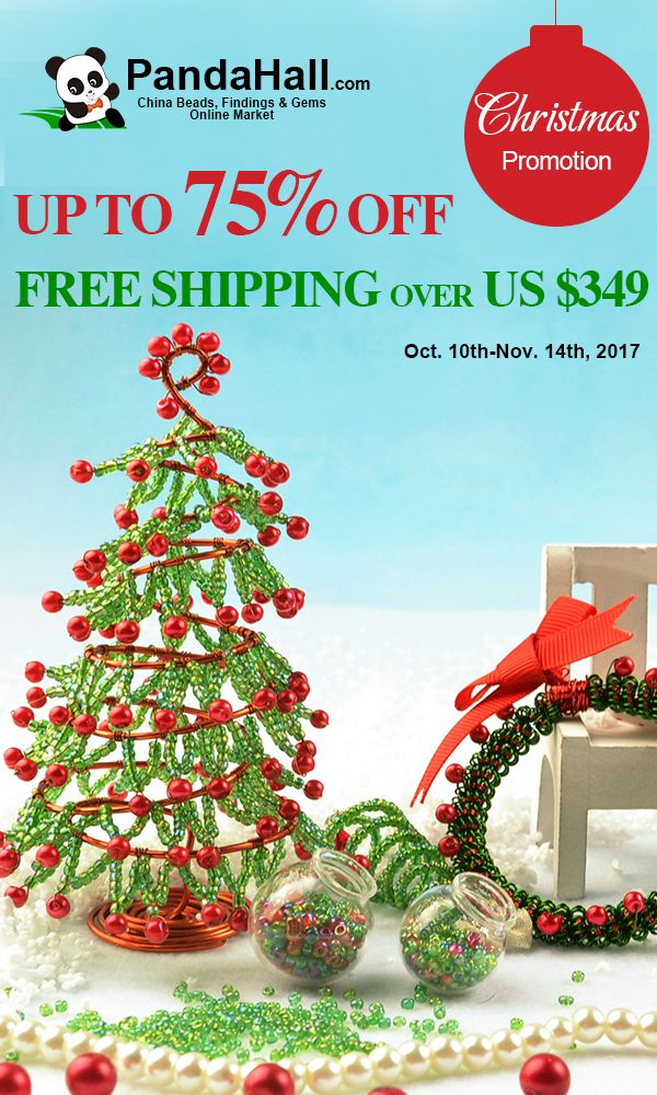 pandahall christmas promotion up to 75 off free shipping valid from 10th