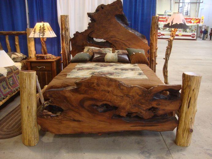 Natural wooden bedroom set for rustic decoration | Decolover.net ...