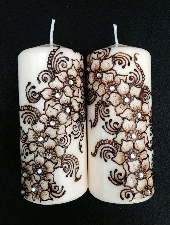 Custom Henna Candles hand designed and crafted to by HennaYourWay