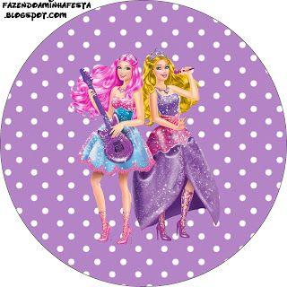 Barbie Princesa e a Pop Star – Kit Completo com molduras para convites, rótulos para guloseimas, lembrancinhas e imagens! | Fazendo a Nossa ...