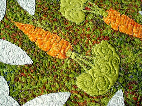 Honey Bunny Applique Quilt Pattern PDF by JoAnnHoffmanDesigns