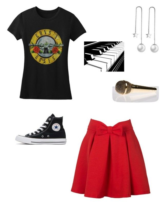 """Character Wardrobe//Singer"" by radioactivenovas on Polyvore featuring WithChic and Converse"