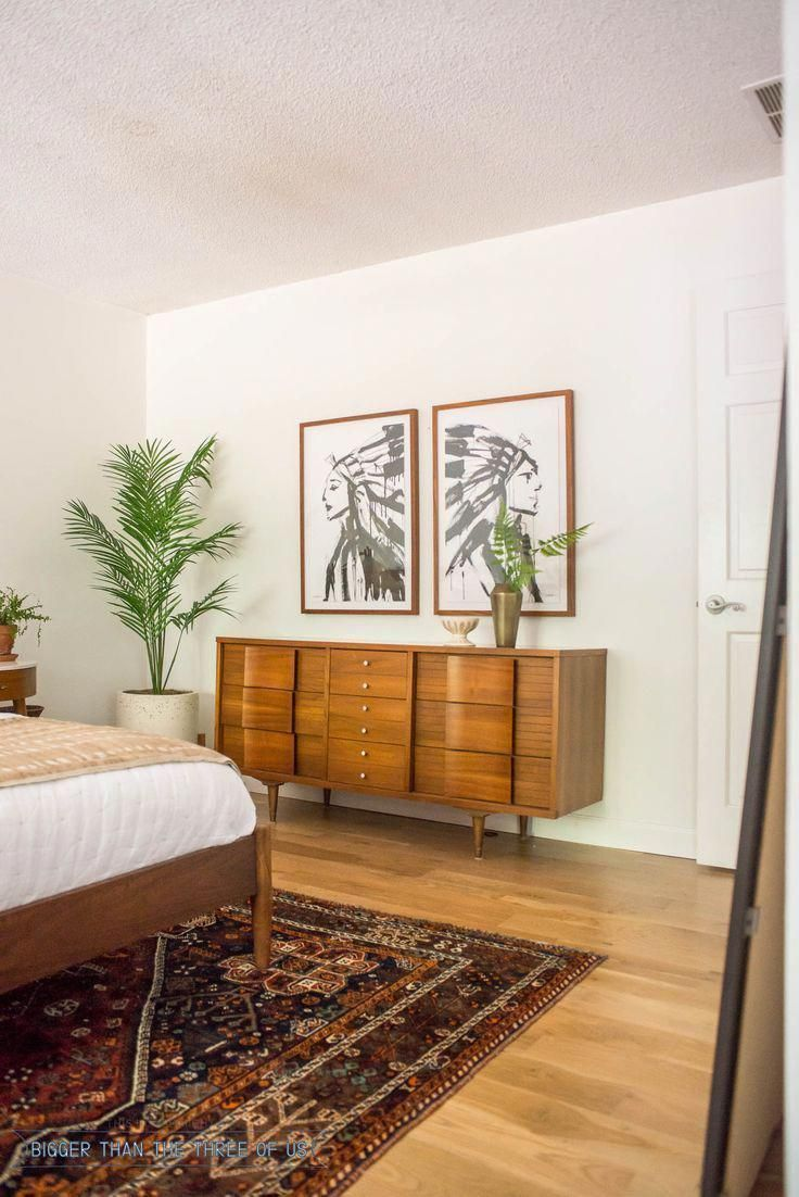 Mid century style bedroom furniture. #bedroomdecor #bedroomdecoration #decoration #homedecor #amazing