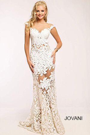 White Lace Formal Dresses