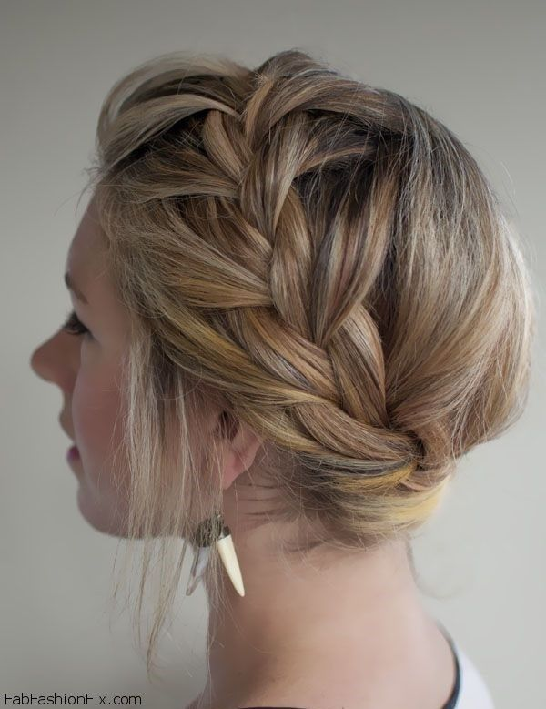Crown braid hairstyle for romantic look. #braid #braided #crownbraid