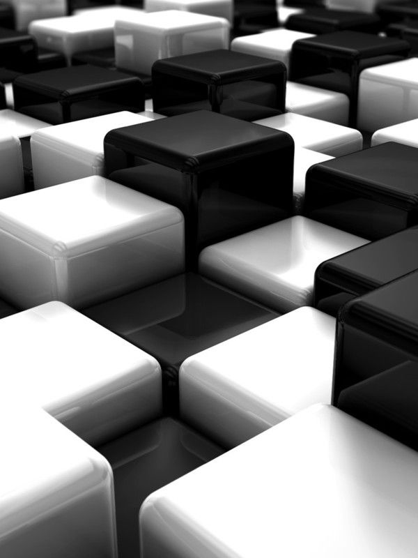Black And White 3d Cubes Wallpaper Black And White Wallpaper Black Hd Wallpaper White Wallpaper