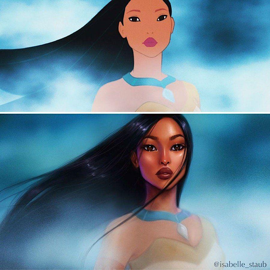 Digitale Zeichenkunst: Illustratorin malt Disney-Heldinnen auf dem Tablet  Mit einem Abschluss des Moore College of Art & Design in der Tasche stand die Illustratorin Isabelle Staub erst einmal vor dem Monster einer kre...