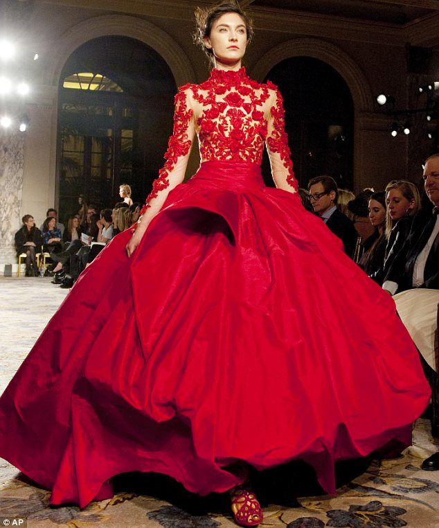 """Marchesa...  naturally...  """"Marchesa takes a leaf from art history books for collection of sumptuous fairytale ballgowns at New York Fashion Week"""".  Always been a sucker for princess/ballgown fashion...  and check out the SHOES!  <3"""