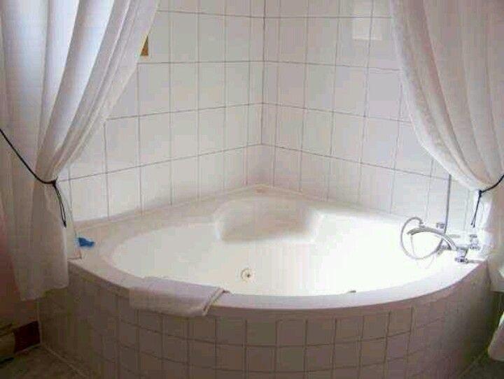 Jacuzzi tub and shower curtain Bathroom fun Pinterest
