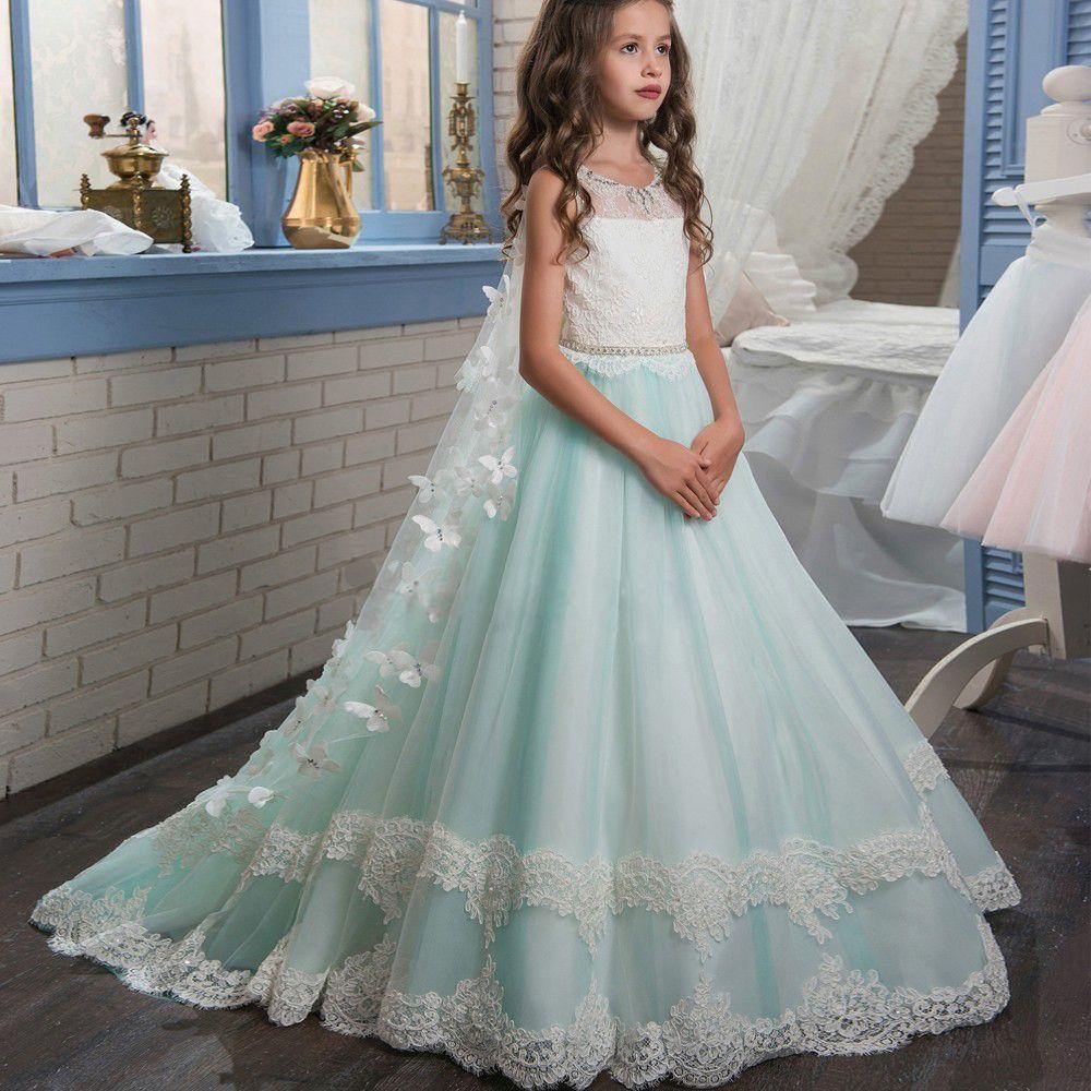 pas cher honey qiao fleur fille robes menthe vert de f te d 39 anniversaire pageant robes avec. Black Bedroom Furniture Sets. Home Design Ideas