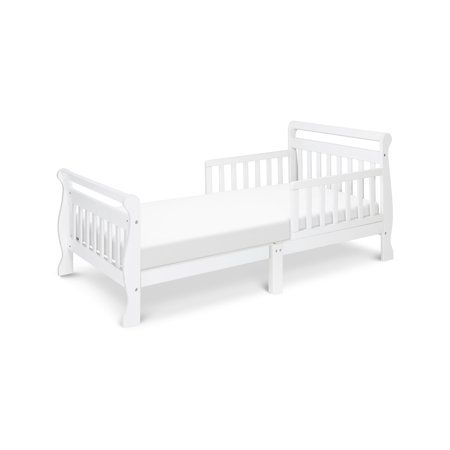 Davinci Sleigh Toddler Bed Multiple Finishes With Bed Rails White Toddler Bed White Toddler Bed Bed