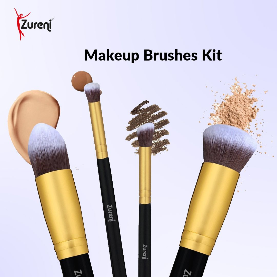 Made of export-quality soft synthetic fiber, Zureni Makeup brushes kit is ideal to provide a luxurious makeup experience to look-conscious girls and ladies. Cruelty-free synthetic skin-friendly bristles that do not shed.  #Zureni #Makeupbrusheskit #makeupbrushesset #brushset #makeupbrush #makeupbrushes #foundationbrush #makeupproducts #makeupessentials #makeupaccessories #groomingaccessories #groomingkit #facecleaningbrush #makeupcollection #makeuplovers #makeupbrand #makeupcommunity #makeupobse
