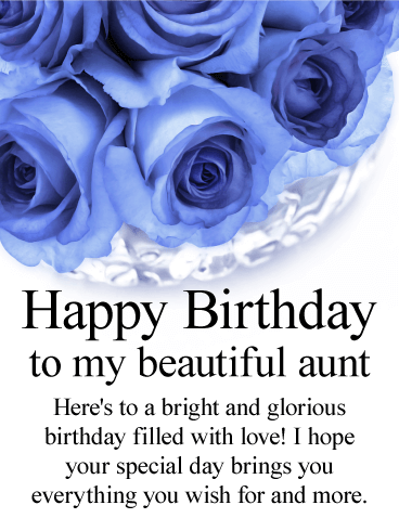 Blue Rose Happy Birthday Card For Aunt A Is Quite Rare Just Like Cherished If You Have Special In Your Life Take Moment To
