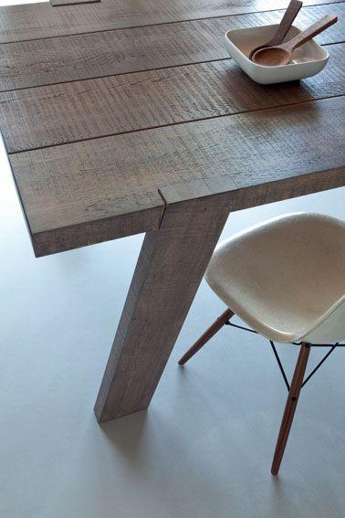 Peindre Un Meuble Avec Un Effet Blanchi Patiné Ou Métal 创意家具 - Peindre une table en bois