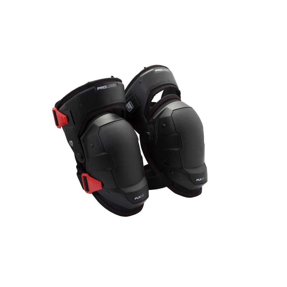d6aa00b8df PROLOCK Professional Black Foam Thigh Support Stabilization Safety Knee  Pads, Blacks