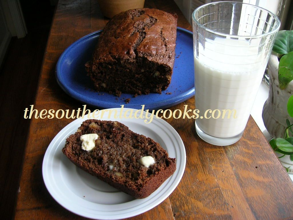 Buttermilk Chocolate Bread The Southern Lady Cooks Chocolate Bread Bread Recipes Sweet Chocolate Quick