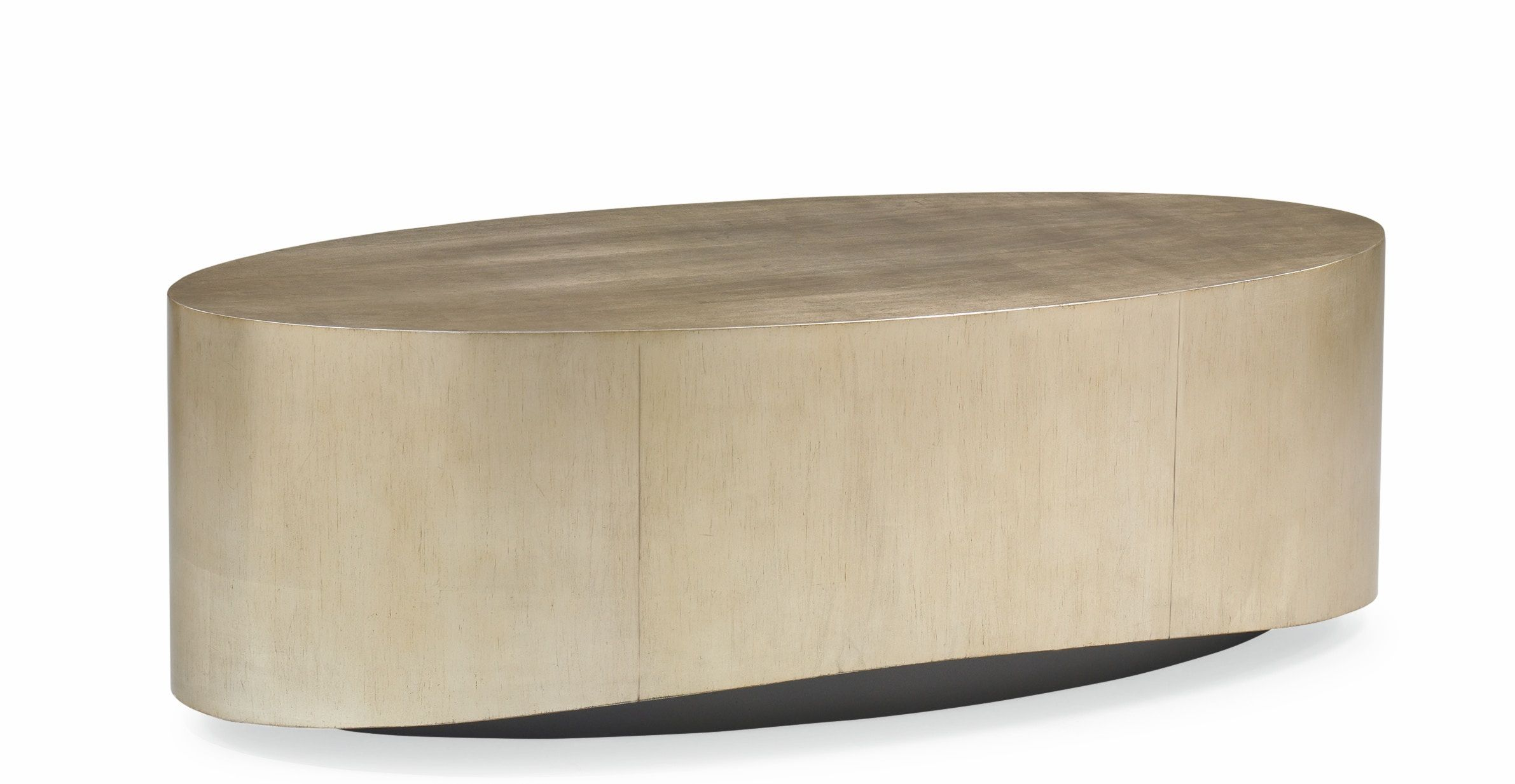 Not Only Does The Oval Shape Encourage Easy Movement And Flow Around A Seating Area This Clever Cocktail Table Adds S Caracole Caracole Furniture Coffee Table [ 1234 x 2382 Pixel ]