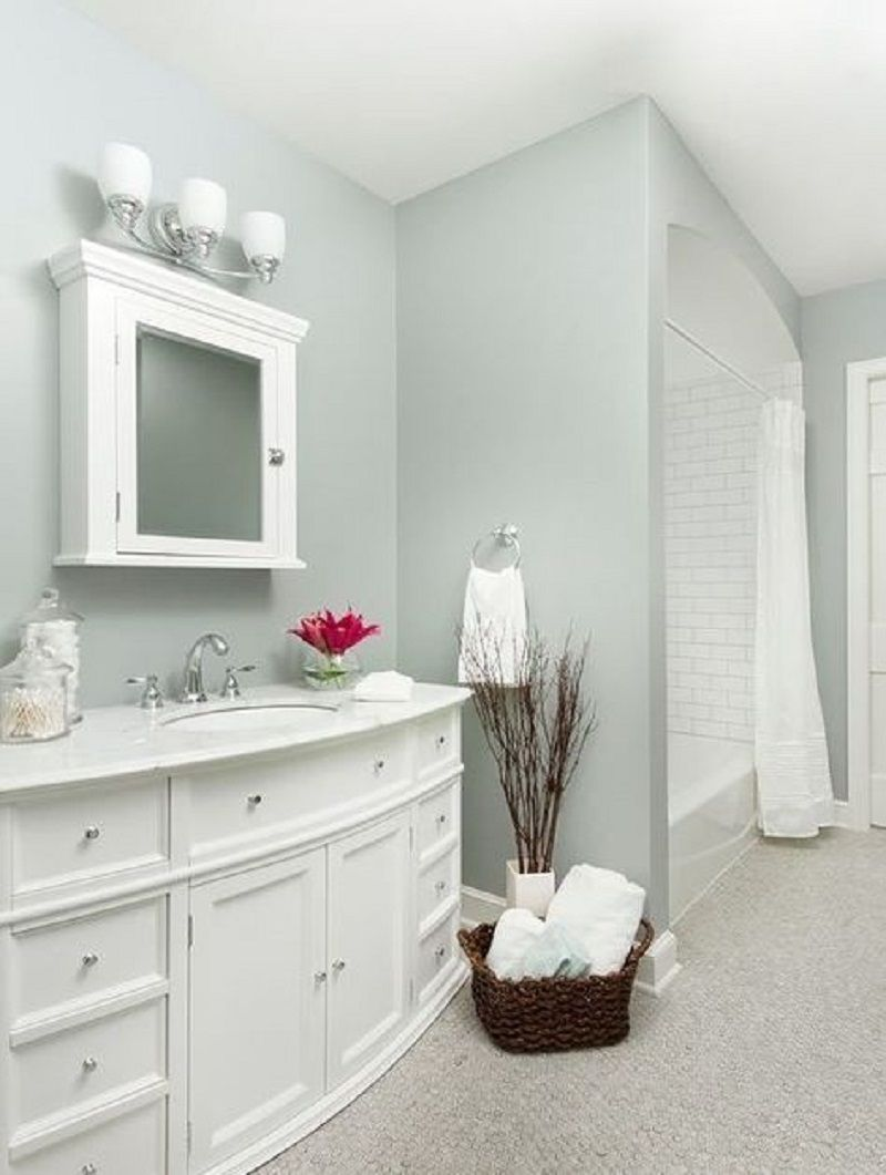 8 Enlightening Color Ideas For Windowless Bathroom Talkdecor Bathroom Wall Colors Best Bathroom Paint Colors Small Bathroom Paint